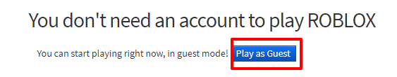 Login Roblox as a Guest Image